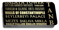 Istanbul Turkey Famous Landmarks Portable Battery Charger