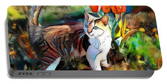 Portable Battery Charger featuring the digital art It Must Be Spring by Pennie McCracken