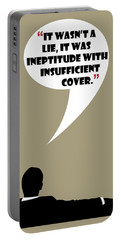 It Wasn't A Lie - Mad Men Poster Don Draper Quote Portable Battery Charger