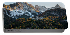 Italian Alps Portable Battery Charger by Yuri Santin