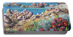 Italian Coastline Portable Battery Charger by Lou Ann Bagnall