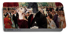 Italian Greyhound Art Canvas Print - Beautiful City Dance Hall Vienna Wilhelm Gause Portable Battery Charger