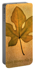 Portable Battery Charger featuring the photograph Italian Honey Fig Leaf 4 by Frank Wilson