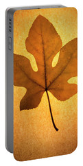 Portable Battery Charger featuring the photograph Italian Honey Fig Leaf by Frank Wilson