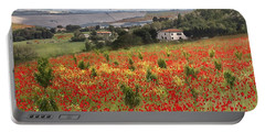 Italian Poppy Field Portable Battery Charger