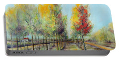 Italian Tree Farm Portable Battery Charger by Jodie Marie Anne Richardson Traugott          aka jm-ART