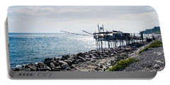 Italy - The Trabocchi Coast 2  Portable Battery Charger by Andrea Mazzocchetti