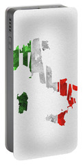 Italy Typographic Map Flag Portable Battery Charger