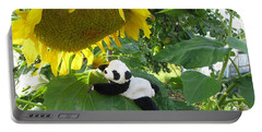 Portable Battery Charger featuring the photograph It's A Big Sunflower by Ausra Huntington nee Paulauskaite