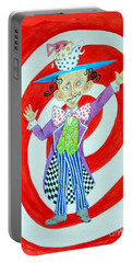 It's A Mad, Mad, Mad, Mad Tea Party -- Humorous Mad Hatter Portrait Portable Battery Charger