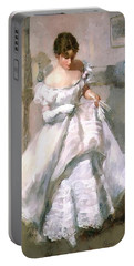 Portable Battery Charger featuring the digital art It's All About The Dress by Pennie McCracken