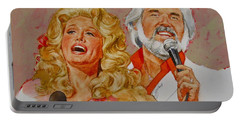 Its Country - 8  Dolly Parton Kenny Rogers Portable Battery Charger