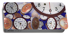 It's Raining Clocks - Washington D. C. Portable Battery Charger