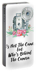 Portable Battery Charger featuring the digital art It's Who Is Behind The Camera by Colleen Taylor