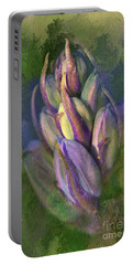 Portable Battery Charger featuring the digital art Itty Bitty Baby Bluebells by Lois Bryan
