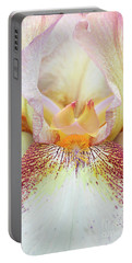 Ivory Bearded Iris Patrice Portable Battery Charger