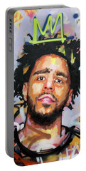 J Cole Portable Battery Charger by Richard Day