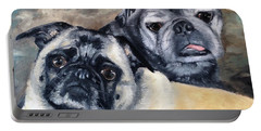 Jack And Bella Portable Battery Charger by Diane Daigle