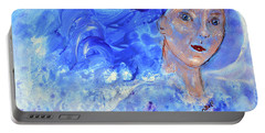 Portable Battery Charger featuring the painting Jack Frost's Girl by Claire Bull
