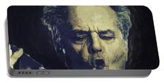Jack Nicholson 2 Portable Battery Charger by Semih Yurdabak