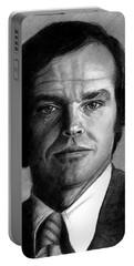 Jack Nicholson Portrait Portable Battery Charger