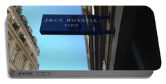 Portable Battery Charger featuring the photograph Jack Russell Paris by Therese Alcorn