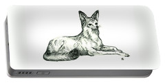 Jackal Sketch Portable Battery Charger