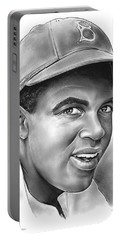 Jackie Robinson Portable Battery Charger by Greg Joens