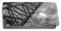 Jackknife Bridge To The Clouds B And W Portable Battery Charger