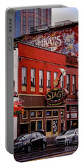 Jack's Bar-b-que And The Stage On Broadway Portable Battery Charger