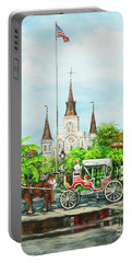 Jackson Square Carriage Portable Battery Charger