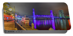 Jacksonville Night River View Portable Battery Charger
