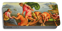 Portable Battery Charger featuring the photograph Jacopo Bassano Fishes Miracle by Munir Alawi