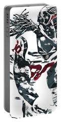 Portable Battery Charger featuring the mixed media Jadeveon Clowney Houston Texans Pixel Art by Joe Hamilton
