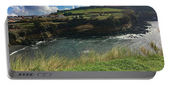 Jagged Coast Of Terceira Portable Battery Charger by Kelly Hazel