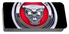 Portable Battery Charger featuring the photograph Jaguar Emblem by Ericamaxine Price
