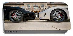 Jaguar F-type - Black And White Portable Battery Charger