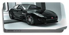 Jaguar F-type - Black Retro Portable Battery Charger