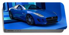 Jaguar F-type - Blue Retro Portable Battery Charger