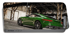 Jaguar F-type - British Racing Green - Rear View Portable Battery Charger
