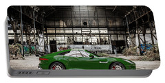 Jaguar F-type - British Racing Green - Side View Portable Battery Charger