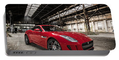 Jaguar F-type - Red - Front View Portable Battery Charger