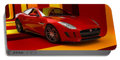 Jaguar F-type - Red Retro Portable Battery Charger