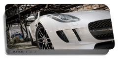 Jaguar F-type - White - Front Close-up Portable Battery Charger