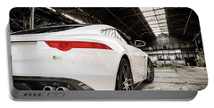 Jaguar F-type - White - Rear Close-up Portable Battery Charger