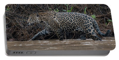 Portable Battery Charger featuring the photograph Jaguar In River by Wade Aiken