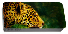 Jaguar In The Grass Portable Battery Charger