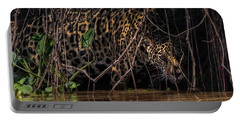 Portable Battery Charger featuring the photograph Jaguar In Vines by Wade Aiken