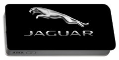 Portable Battery Charger featuring the photograph Jaguar Logo by Ericamaxine Price