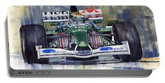 Jaguar R3 Cosworth F1 2002 Eddie Irvine Portable Battery Charger
